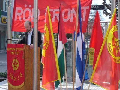Tom Carlsson, Kommunistiska Partiet, talar